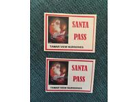 2 x children's Santa grotto tickets for Tamar View Garden centre saltash