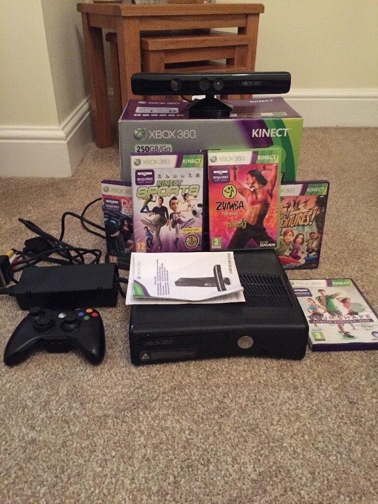 Microsoft Xbox 360 Kinect & Adventures Bundle 250GB Matte Black Console
