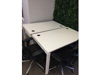 profesional office rectangle desk table white