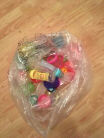 FREE assorted baby bottles and toddler cups