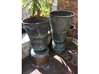 9 Victorian Round Antique Copper Large Plant Pots Planters in Various Sizes from £250 Each VGC