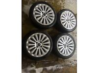 "16"" GENUINE FORD FIESTA ZETEC S TITANIUM X ALLOY WHEELS SET OF 4"