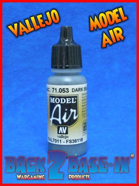 Vallejo Model Air Acrylic Paint 17ml Bottle Dark Seagreen 71053