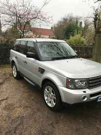 Range Rover Sport 2.7 TD 2005 Silver 5 Door Cheap Road Tax