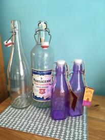 Selection of glass bottles