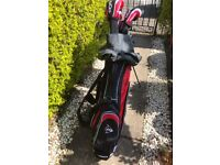 Set of golf clubs and bag good condition