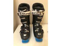 Men's Ski Boots size 28.5 Solomon Energiser 120. Black and Blue. Expert oversized pivot.