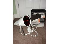 philips infraphil infrared heat lamp.