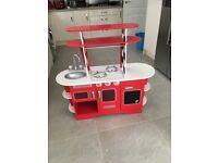 Wooden kids toy kitchen