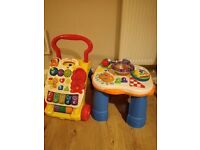 V tech baby walker , fisher price activity table