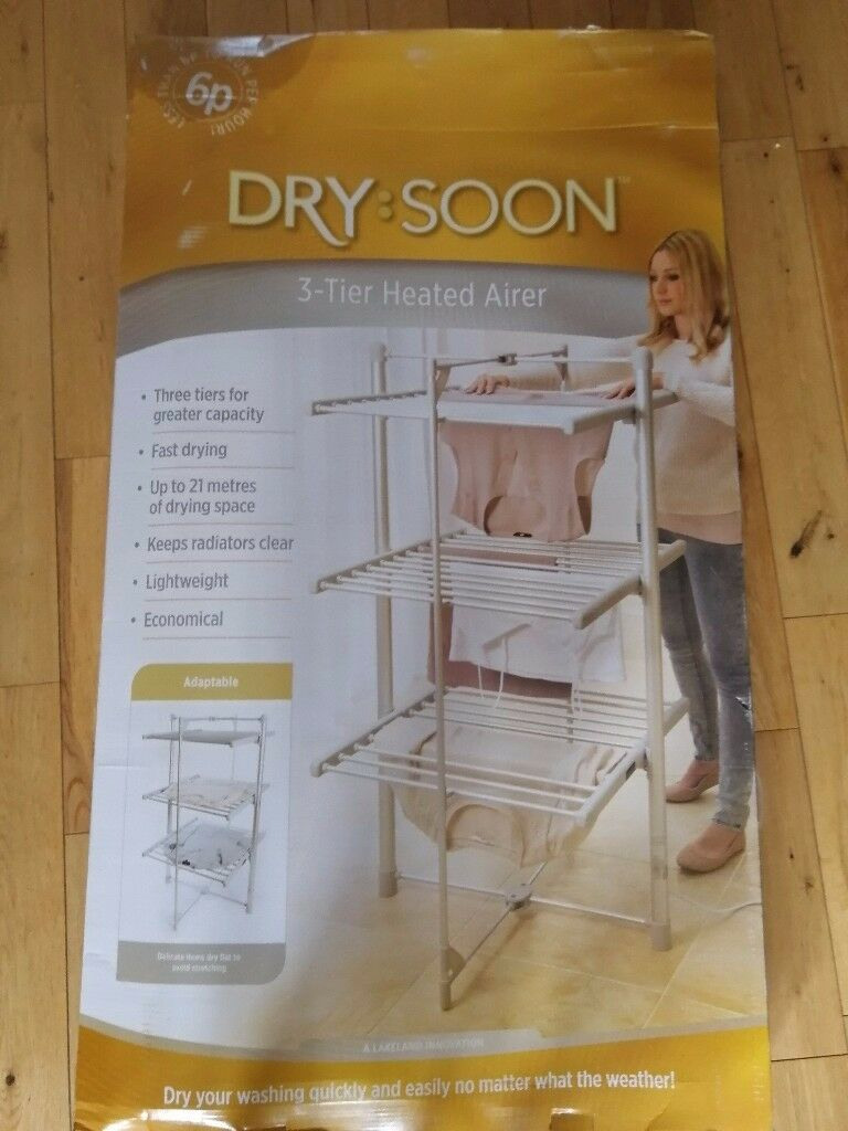 Lakeland dry soon 3 tier heated clothes airer