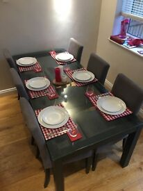 Habitat Dining table and 6 Ikea chair set- good condition