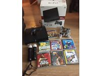 PS3 160gb with games and move