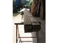 "Timber 6"" x 1"" x 11ft 6"" lengths just £5 per length"