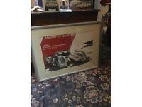 Motorsport posters, Porsche, Lotus, job lot