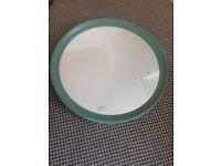 ikea STABEKK Mirror, green - Diameter: 75 cm very good condition