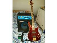 Schecter diamond series bass guitar, EMG activ pickaps