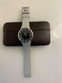 Police Men's Watch With Grey Resin Strap