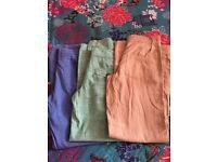 Next linen trousers, size 8, unworn
