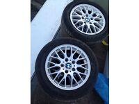 """Genuine set of 16"""" BMW alloys & tyres"""