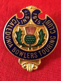 Vintage enamel badge