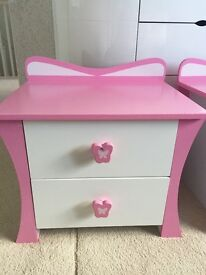 CHILDREN'S BEDSIDE CHEST OF 2 DRAWERS