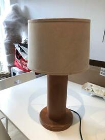 Large faux leather/suede lamp
