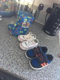 Infant size 4 shoes and wellies