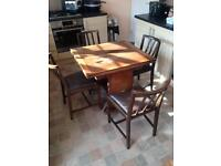 1950's Extending Dining Table & 4 Dining Chairs