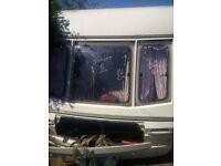 Swift Caravan front windows