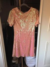 Pink topshop sequin dress