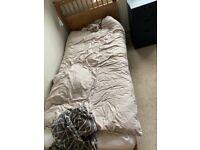 HEMNES Bed frame, Pine Standard Single with mattress