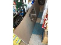 Grey/Mink Engineered Stone Kitchen Worktop with Sink 1800mm