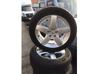 Peugeot 407 alloy wheels / tyres £110