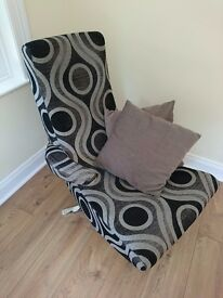 Designer chair armchair - hardly used - very good condition from smoke free, pet free house