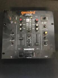 Gemini PMX-25 Stereo Preamp Mixer 2 4 Channel DJ Disco Record Vinyl Ground Technomaster