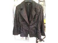 Black satiny lightweight jacket