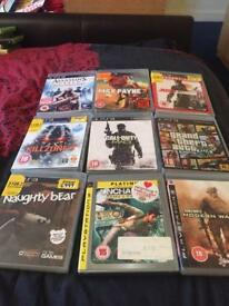 9 x PlayStation 3 games