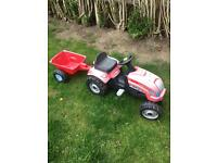 Free Pedal Tractor and Trailer