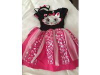 Girls Cute Cat Halloween costume 3-4 years