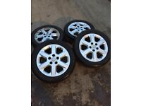GENUINE VAUXHALL ZAFIRA SET OF ALLOY WHEELS AND TYRES