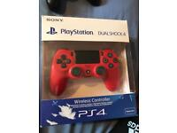 Ps4 v2 red controller boxed - LIKE NEW!
