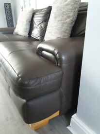 large brown 3 seater sofa pick up only
