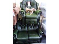 Saxon chesterfield sofa 1 recliner chair