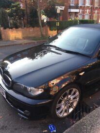 Black BMW convertible CI M sport