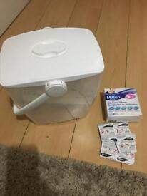 Steriliser with 35 tablets