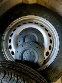 Vw t5 transporter steel wheels