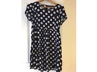New Look Navy and White Tea Dress. Size 12.
