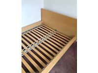 Double bed brand new mattress 12 months ago hardly used was spare bed