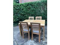 Liberty Oak dining 4 seater dining table with 4 chairs